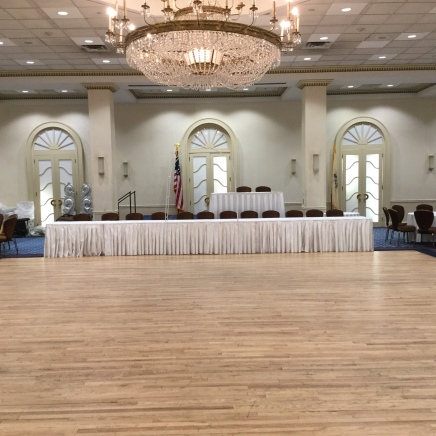 Before - Stage and High Table